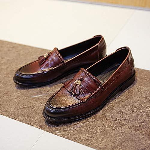 LOVDRAM Chaussures en Cuir pour Hommes Nouveau One Foot Peas Chaussures en Cuir Décontracté Chaussures pour Hommes Pieds pour Hommes Chaussures à Glands