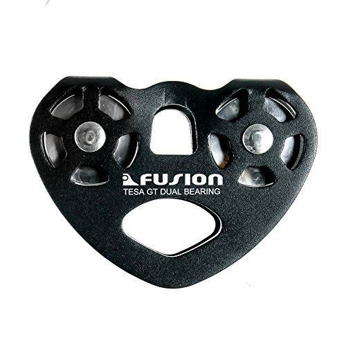Fusion Climb Tesa Military Tactical Edition Speed Aluminum Alloy Zip Line Trolley Pulley, Black, one Size
