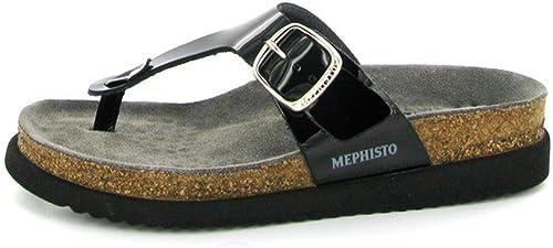 Mephisto Hale (noir Vernis) Sandales en Cuir
