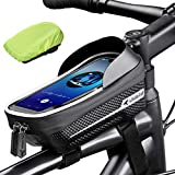 """whale fall Reflective Bike Frame Bag Bicycle Phone Bag Bike Phone Holder EVA Waterproof Handlebar Bag with Sensitive Touch-Screen&Rain Cover fits 6.9"""""""
