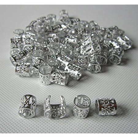 2 Ornate Silver Hair Cuffs