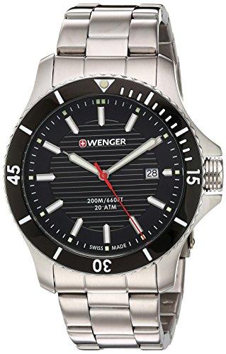Wenger Reloj Analógico para Hombres de con Correa en Acero Inoxidable 01.0641.118