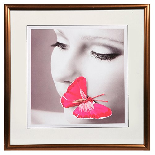 New Lifestyle Kunststoff Bilderrahmen quadratisch 20x20 30x30 40x40 50x50: Farbe: Bronze   Format: 30x30