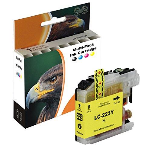 D&C Tintenpatrone YELLOW kompatibel mit Brother L-221 L-223 DCP J4120 DWG J562 MFC J4420 DW J4620