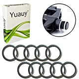 Yuauy 10 x Pedal Washers 20mm x 15mm w/ 1mm Thickness Stainless Steel Replacement Silver for Moutain Bike Road Bike