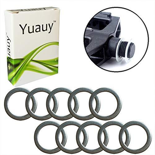 Yuauy 10 x Pedalscheiben 20 mm x 15 mm mit 1 mm Dicke Edelstahl Ersatz Silber für Moutain Bike Rennrad