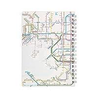 東京カートグラフィック 鉄道路線図 リングノート 関西日本語 × 5 セット RRNKJ