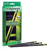 Ticonderoga Pencils, Wood-Cased Graphite, #2 HB Soft, Black, 12-Pack (13953)