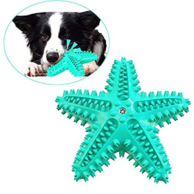 Dog Toothbrush Chew Toy for Aggressive Chewers Small Medium Breeds Puppy Dogs Durable Squeaky Sound Toys Interactive Throw Toy for Indoor Outdoor Play Teeth Cleaning