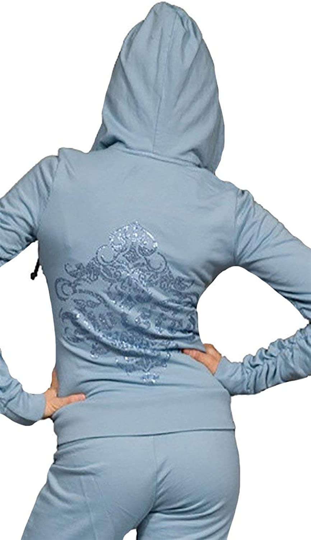 Twisted Heart House Rhinestone Zip Up Hoodie Sweatshirt