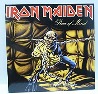 Bruce Dickinson Iron Maiden Piece Of Mind Autograph Autographed Signed Memorabilia Lp Beckett Certified