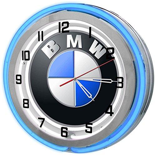 BMW Neon Garage Clock