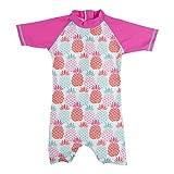 Baby Banz Shorty di Natación Termico ANTI-UV Manga Corta Piña, 18 meses.