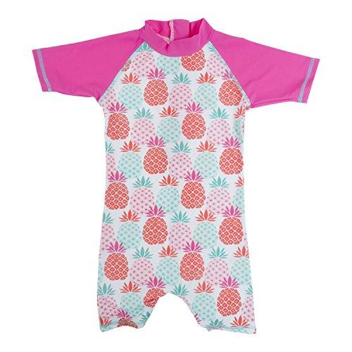 Baby Banz Shorty di Natación Termico ANTI-UV Manga Corta Piña, 12 meses.