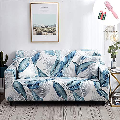 Funda Sofá de 3 plazas Universal Estiramiento, Morbuy Nórdico Cubierta de Sofá Cubre Sofá Funda Furniture Protector Antideslizante Elastic Soft Sofa Couch Cover (3 plazas,Bosque)
