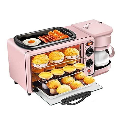 Yongqin Olla Caliente Barbacoa Horno Halógeno 9L Multifuncional Mini Máquina De Desayuno, Tostadora Cafetera Sándwich, Horno Eléctrico