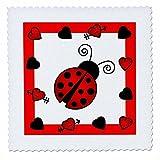 3dRose Love Bugs Marienkäfer rot mit Herzen, Quilt, Platz,