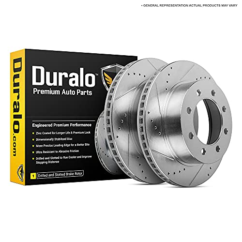 Duralo Front Brake Rotor Set For Ford F250 F-250...