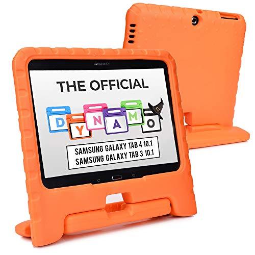 Cooper Dynamo [Custodia Rigida Cover] per Samsung Tab 4 10,1, Tab 3 10,1   Case Tablet per Bambini Copertura Protettiva Supporto Maniglia (Arancio)