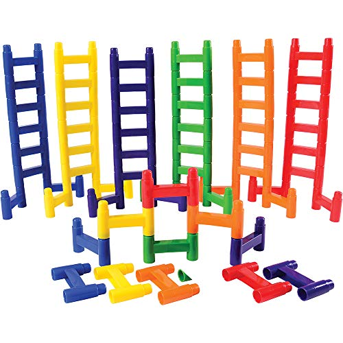 Constructive Playthings Jtm-33 3' L. X 2' W. Connecting Ladder Links Activity 60 Pc. Set For Ages 18 Months And Up