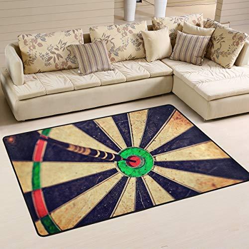 Mnsruu Vintage Dart-Bereich Teppich für Wohnzimmer Schlafzimmer 91 cm x 61 cm