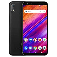 "5.7"" HD+ 18:9 Curved Glass Display, Octa-Core 1.6GHz processor 13MP A.I Main Camera with Flash + 8MP Front Camera with Flash 64GB Internal memory 3GB RAM, and Micro SD up to 64GB Fingerprint Sensor and Android 9 Pie 4G LTE (2/4/5/12/17) 3G: (850/1700..."