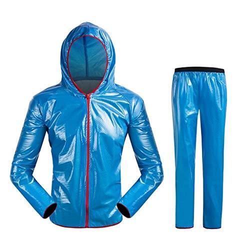YDS Shop Waterdichte regenjas (regenjas + regenbroek), split pak milieuvriendelijke stof, herbruikbaar, outdoor-sport, motorfiets, vissen, jacht, kamperen Large