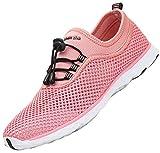 SAGUARO Zapatos de Aqua Mujer Zapatos de Playa Hombre Caminar Zapatos Casuales Ligero Zapatillas Trekking Respirable de Verano Rosa Gr.44