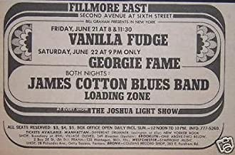 James Cotton Vanilla Fudge Fillmore East Poster Newspaper Ad