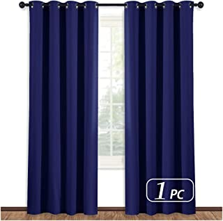 NICETOWN Blackout Royal Blue Curtain Panel - Light Blocking Room Darkening Drape/Drapery for Nursery Room, Ring Top, 52 inches Wide by 84 inches Long, 1 PC