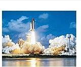 Puzzle de 1000 piezas de rompecabezas de madera Tangram 3D rompecabezas clásico juguetes para niños rompecabezas para adultos DIY cohete volando hacia el cielo imagen decoración arte moderno pared 75