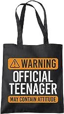 Warning Official Teenager - Teenage 13th Birthday - Tote Shopping Bag
