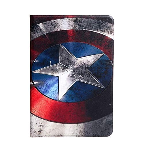 RubyShopUU Case for iPad Air 1/2 Case 3D Relief Painting Flip PU Leather Smart Cover Auto Sleep Cover Case for iPad 5 6 Stand Tablet Bags