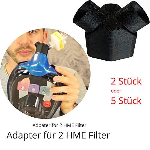 Khroom® Von DEKRA® geprüfte CO2 sichere Schnorchelmaske Vollmaske | bekannt aus YouTube | Seaview X - Tauchmaske für Erwachsene und Kinder. (Y-Adapter für HME Filter, 5 Stück)