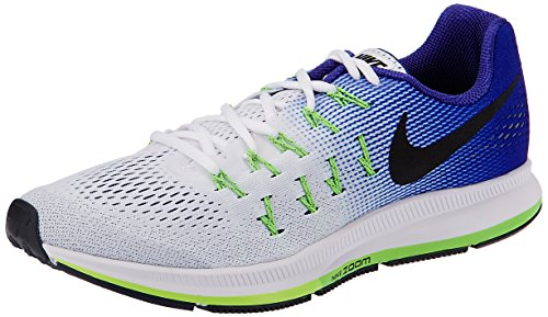 Nike Air Zoom Pegasus 33, Scarpe Running Uomo, Multicolore (White/Black-Electric Green-Concord), 42 EU