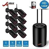 【2020 Nuevo】2MP CCTV Kit Cámaras de Vigilancia WiFi, ANRAN 1080P Kit Cámaras de Seguridad Inalambricas 8CH Sistema de Videovigilancia 8 Cámaras de Seguridad, Acceso Remoto, Facíl de instalar (2TB HDD)
