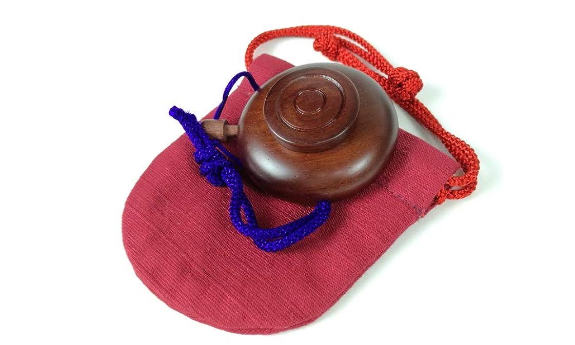 びっくりしたアマゾンジャングルほとんどの場合塗香入れ 桜 黒檀 紫檀 サイズ選択 小 大 塗香入れ袋付き 携帯用 (小, 紫檀赤)