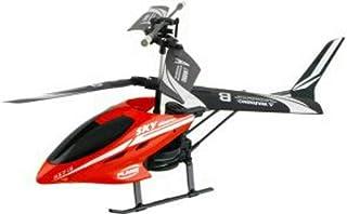 طائرة هليكوبتر تحكم عن بعد بالريموت كنترول في مكس HX713 حركات متنوعة و دورانات اضاءة ليلية لون احمر حجم كبير
