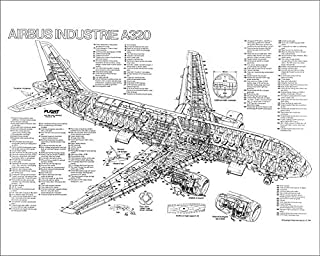 Media Storehouse 10x8 Print of Airbus A320-100 Cutaway Poster (1569799)