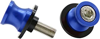 2pcs M10 X1.25 Motorcycle Swing arm Sliders Spools CNC Swing Arm Stand Screw for FZR 1000/600R/400 for Kawasaki Z750 /Z750S/ Z750R /ER-6F /ER-6N /Versys 1000 Duke 125/200/390 RC 125/200/390(Blue)