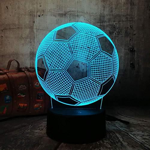 YOUPING Lámpara de dormir 3D con diseño de balón de fútbol con sensor táctil, 7 colores cambiantes