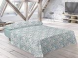 Pierre Cardin - Juego de sábanas Bale - Cama 135 Cm - Color Verde C6