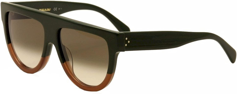 Celine Women's 41026S 41026 S JARZ3 Green Brown Retro Fashion Sunglasses 58mm