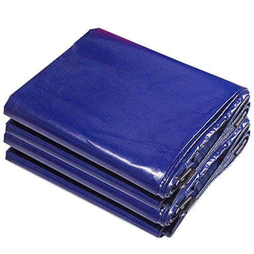 KXBYMX Bâche extérieure imperméable à l'eau bâche double face étanche à l'humidité cargaison étanche à la poussière hangar tissu auvent léger PVC bleu Bâche imperméable de haute qualité