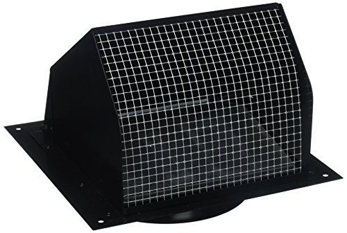 Nutone Broan 843BL Wall Cap Black for 6' round...