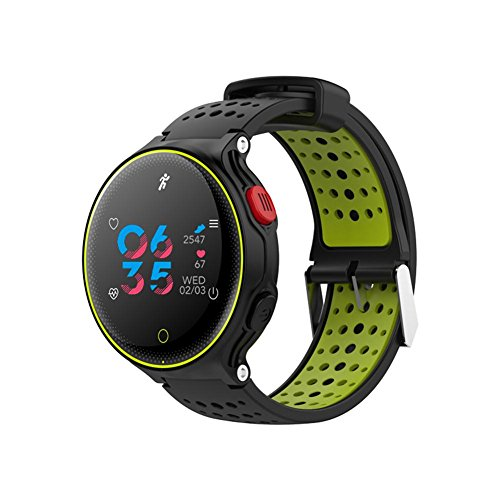 Microwear Reloj deportivo X2 Plus con pulsómetro, monitor de fitness, podómetro, monitor de sueño, alarma de ajuste, cronómetro, notificación de llamadas, cámara push para Android e iOS