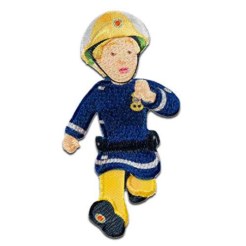 Feuerwehrmann Sam © Penny - Aufnäher, Bügelbild, Aufbügler, Applikationen, Patches, Flicken, zum aufbügeln, Größe: 7,2 x 3,6 cm