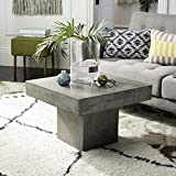 "Safavieh VNN1016A Collection Tallen Dark Grey Indoor/Outdoor Modern Concrete 15.75"" Coffee Table"