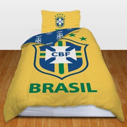 Brasil Brazil Football Team Duvet Quilt Cover Bedding Set by BRASIL