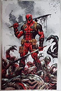 NYCC 2018 DEADPOOL Lithograph Cover of Deadpool Kills the Marvel Universe Again # 1 Variant SIGNED by Tyler Kirkham